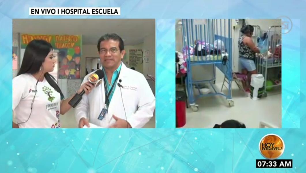 #HoyMismo #PrimeraEdición ¡ATENCIÓN! 🚨 Abarrotada se encuentra la sala de pediatría del Hospital Escuela de pacientes con sospecha de dengue.