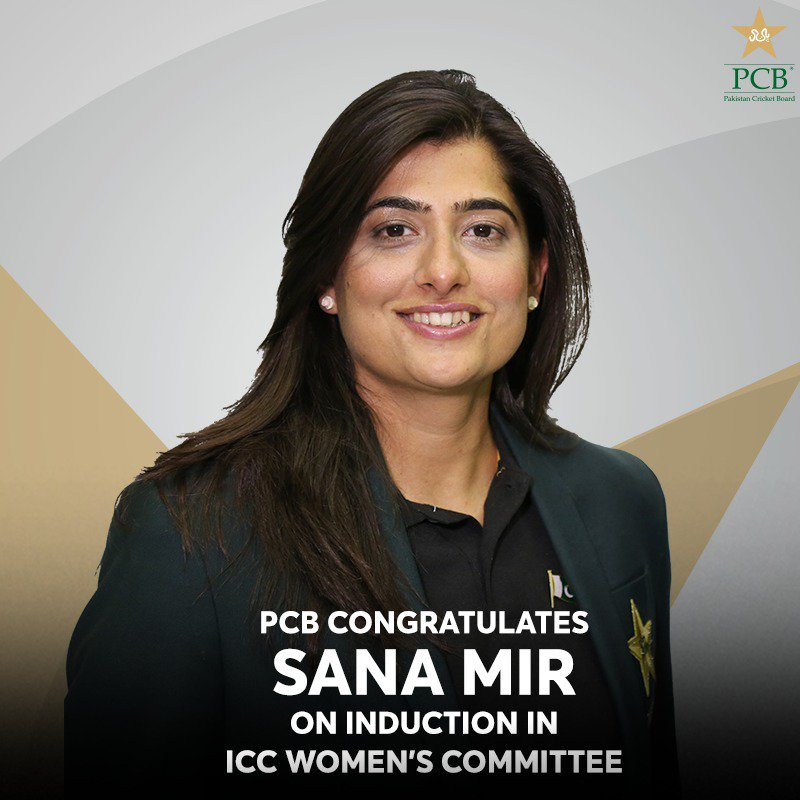 PCB congratulates @mir_sana05 on induction in @ICC Women's Committee   MORE 🔽 https://www.pcb.com.pk/press-release-detail/pcb-congratulates-sana-mir-on-induction-in-icc-women-s-committee.html …