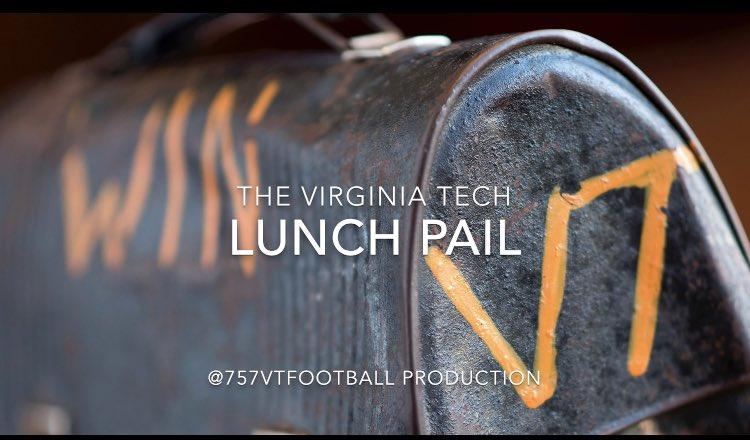 """The Virginia Tech Lunch Pail  New video drops today at 1pm! The Lunch Pail is not a """"prop"""". Watch the video later today to find out why! #LPD #HokieNation @21Live_ @coachfostervt @CoachFuente @LazeVT @MikeBurnopVT @accnetwork @CollegeGameDay @VT_Football  VIDEO DROPS AT 1pm TODAY<br>http://pic.twitter.com/Aww2Qysc7m"""