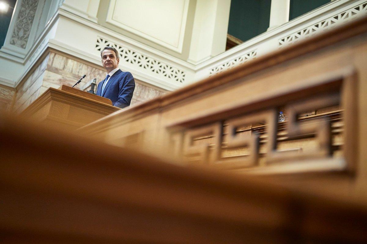 Στόχος μας είναι η νέα Βουλή να γίνει η καλύτερη της Μεταπολίτευσης. Παράγοντας ορθό λόγο, νομιμότητα και πολιτισμό. Το Σύνταγμα και ο Κανονισμός της Βουλής θα είναι οι δύο φάροι της δράσης μας σε όλη τη διάρκεια της τετραετίας. Κανόνας μας είναι οι κανόνες.