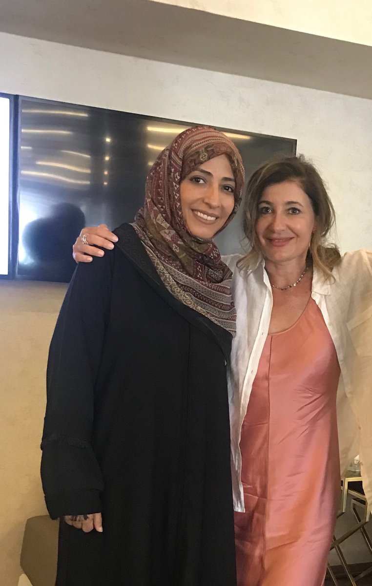 Great to talk to ⁦@TawakkolKarman⁩ in #Istanbul on desperate need for #Yemen unity - #NobelPrize winner and revolutionary woman an inspiration  to all!<br>http://pic.twitter.com/CfXsUzeoom