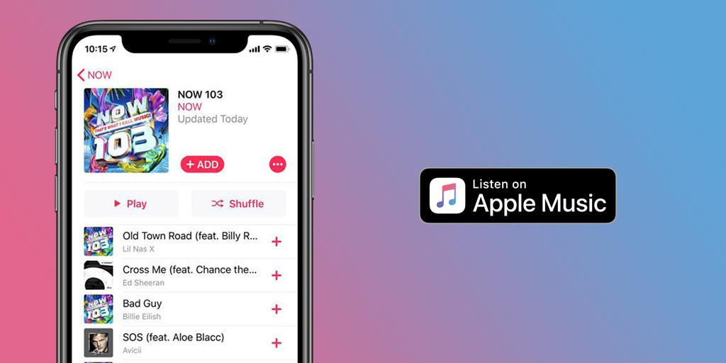 Don't forget to check out #NOW103 on Apple Music!    LISTEN: http://NOW.lnk.to/AM103TW