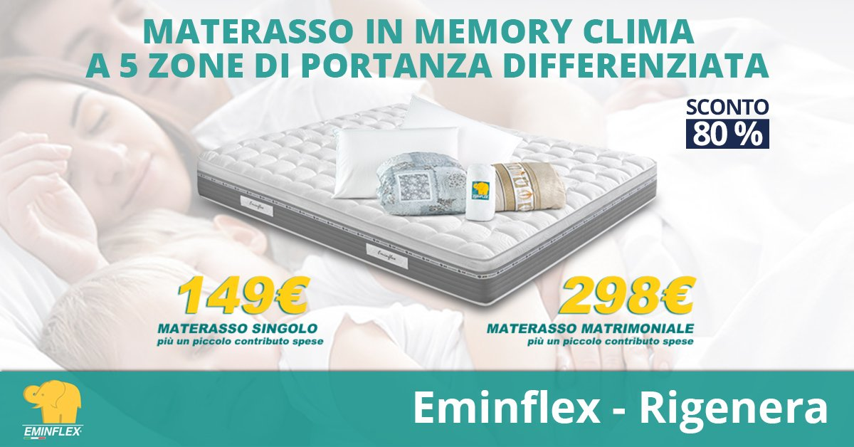 Eminflex Materasso Matrimoniale Infinity.Materassi Eminflex Materassotv Twitter