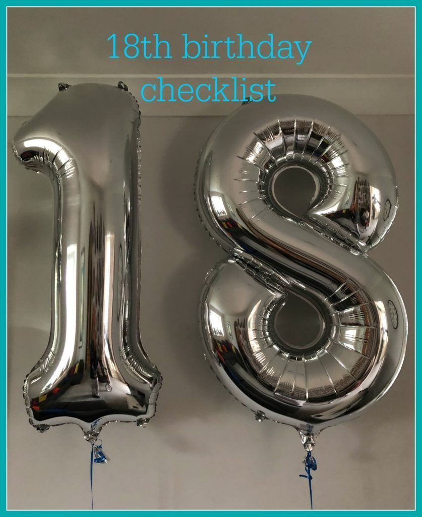 A checklist for a special 18th birthday... https://buff.ly/2JGwdL3