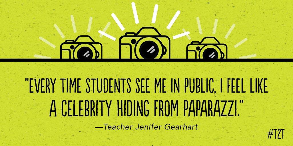 Have you run into any starstruck Ss this summer? 🤩 #edchat, #TeacherLife via teacher Jenifer Gearhart
