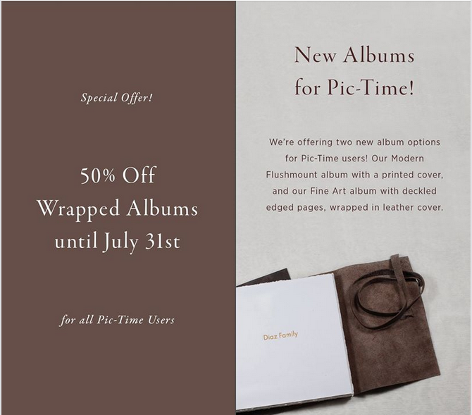 The Journal ArtBook is now on Pic-Time! Grab 50% off 👈 Offer valid until July 31st 🙉🙊👍 #qtalbums #pictime #teamqt #journal #offer #weddingalbum #WEDDINGPHOTOGRAPHY #leatherwrapalbum  @pictime_us