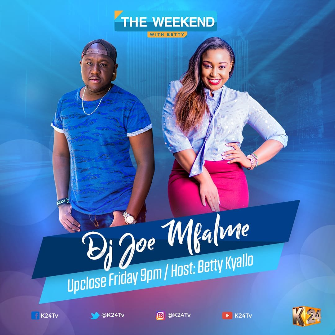 Leo ni Leo...  Tonight! @BettyMKyallo Hosts me on #UpClose On #WeekendWithBetty On @k24tv Tune in then... You cannot afford to miss this. Cc @thesarahmwangi