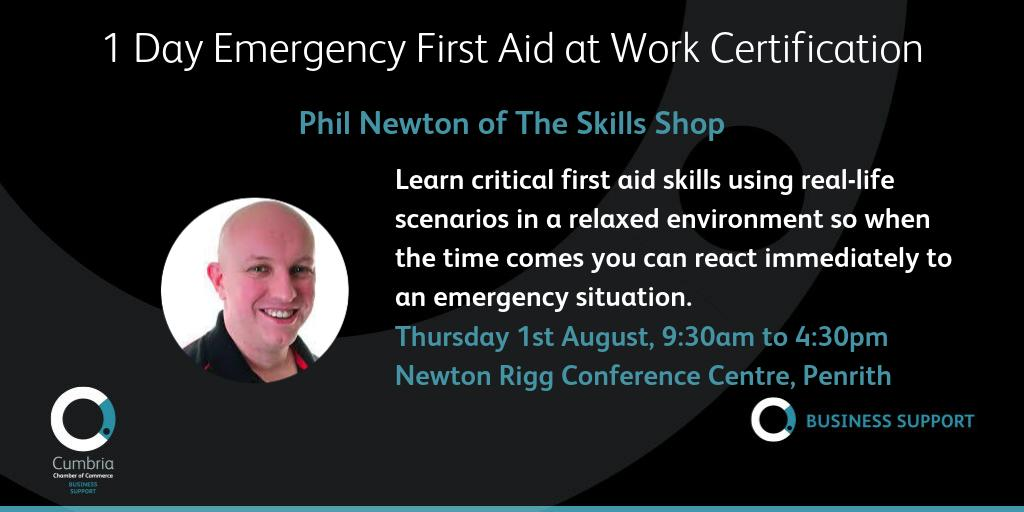 test Twitter Media - 1 Day Emergency First Aid at Work Certification (with added extras) with Skills Shop at Newton Rigg Conference Centre on Thursday 1st August. Booking and full details here: https://t.co/L7T8aSp7DR @theskillsshop https://t.co/MuwVeGMn0D
