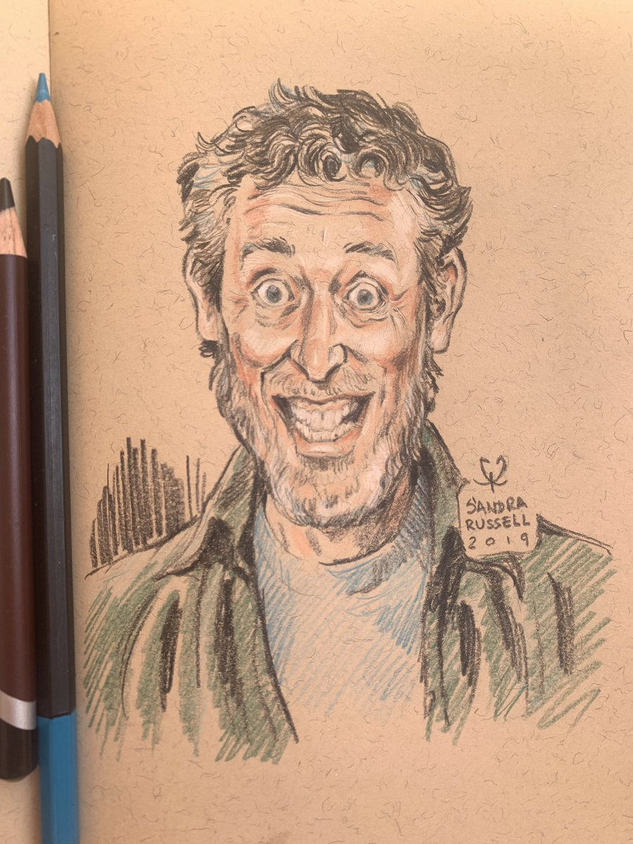 Just thought I'd finish the sketch I did of @MichaelRosenYes last week. As thanks for all the likes & RTs  #sketchbook<br>http://pic.twitter.com/BgBC9KG9x5