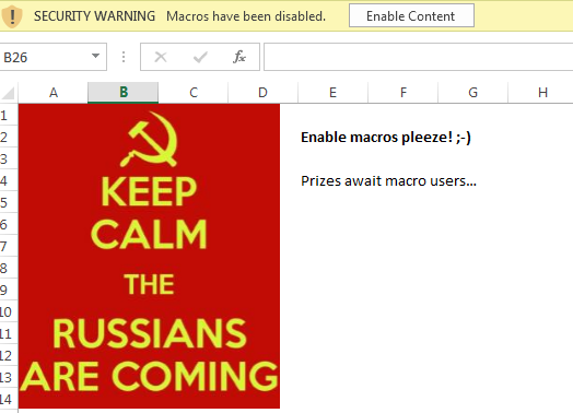 Keep calm the Russians are coming Tweet added by