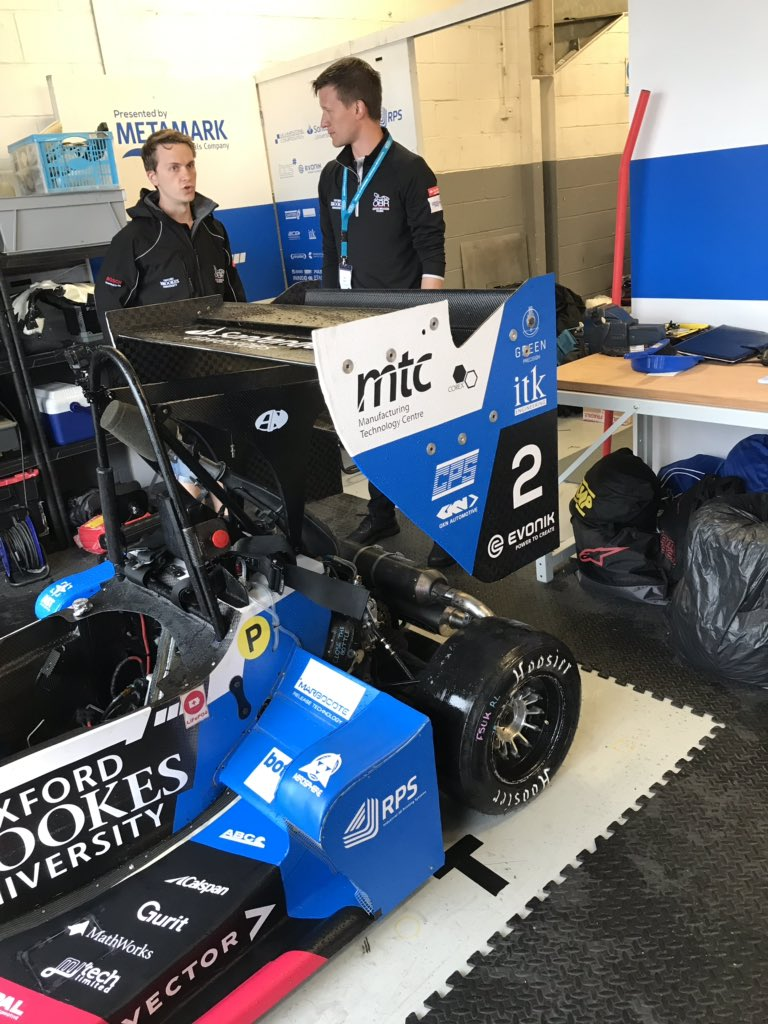 A rainy but exciting day here @FormulaStudent @silverstone watching @oxbrookesracing competing. #RaceDifferent