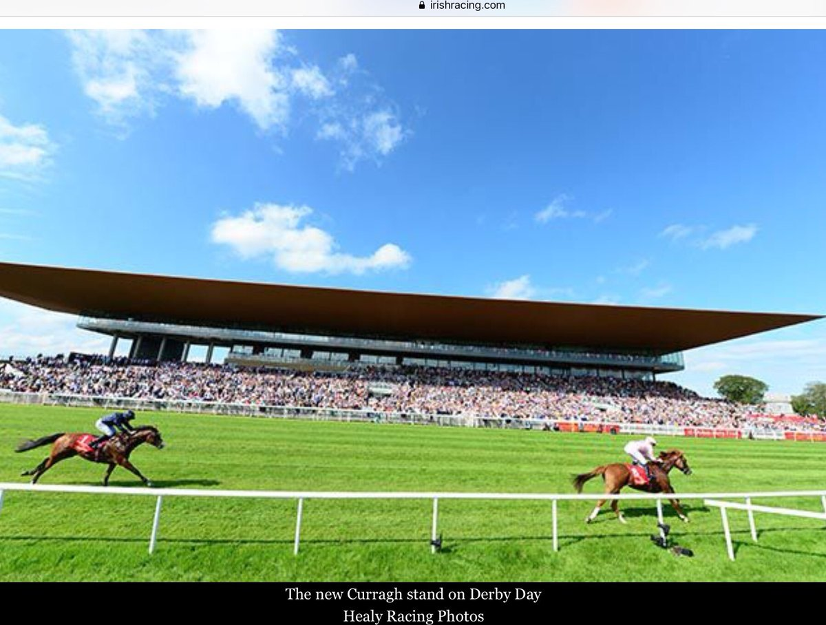 A photo of the packed stands at The Curragh on Derby Day. What puzzles me is attendance that day was 12,000 whereas we are told capacity is 30,000 - where would you put the other 18,000 spectators?