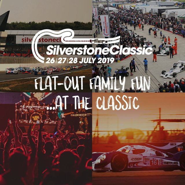 🏁GET READY 🏁  Only 1 week until @Silverclassic hits our track. You ticket includes access to paddocks, open grandstands, live music and funfair rides! 🎡  Don't miss out! Buy tickets today: https://bit.ly/2YgaQrP Watch 2018 highlights: https://bit.ly/2xUKPj5