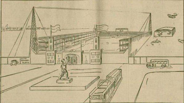 test Twitter Media - Dagdraadje Feyenoord 111 jaar.  Op 31 maart 1932 schreef het Rotterdamsch Nieuwsblad dat Feyenoord een nieuw stadion kreeg voor 100.000 toeschouwers. 'Reeds morgen zal de eerste paal worden geslagen.'    Haha! 1 april, stadion in je bil.  Verhaal op https://t.co/RQC7JMXvee https://t.co/9oVVlqQhFJ