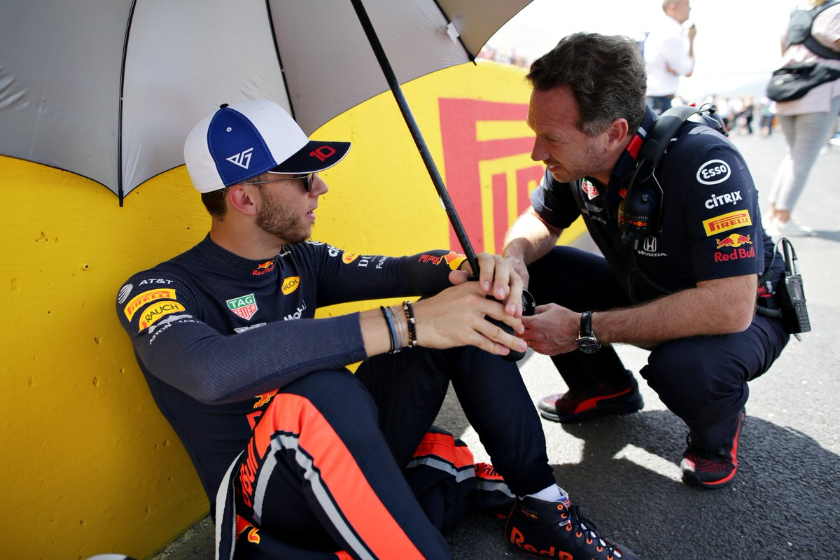 Pierre Gasly acknowledges support from Christian Horner and Helmut Marko since the step up to Red Bull Racing in 2019. He speaks about a solid #BritishGP after slow #AustrianGP: https://bit.ly/2LXfp3E #F1 @HondaRacingF1
