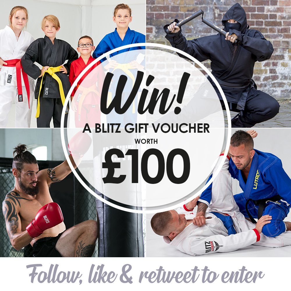 ☀️ SUMMER GIVEAWAYS ☀️ Win a Blitz £100 Blitz Gift Voucher!  FOLLOW, LIKE and RETWEET to enter. 24 hours to enter. Ends 20 July (noon). Winner announced later this week.#Competition #Win #Summer #Giveaway #MartialArts #CompetitionTime #RTtoWin #Voucher #Club #Gym #PT #Sensei
