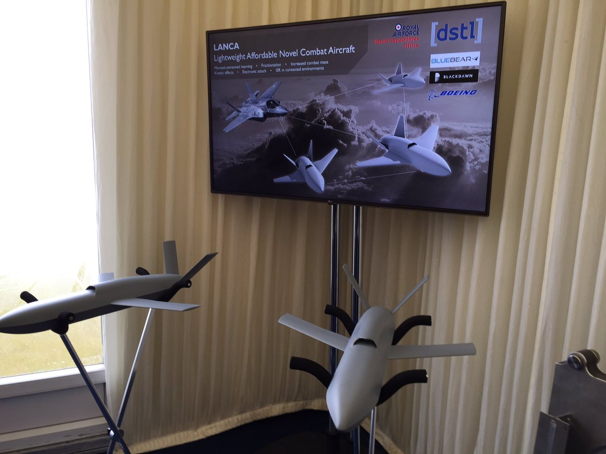 The first models of concept unmanned aircraft LANCA are unveiled at @airtattoo #TeamTempest @DefenceHQ