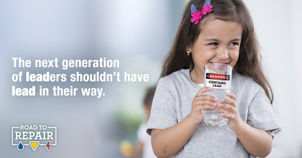 We need to upgrade our water infrastructure to keep our kids safe and ensure they have access to #clean drinking #water!