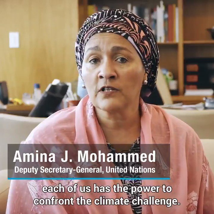 From the food we eat to the clothes that we wear, each one of us has the power to tackle climate change. Go to http://un.org/actnow to log your actions for a healthier planet and better future. Join @aminajmohammed for the global #ActNow movement, & show your #ClimateAction!