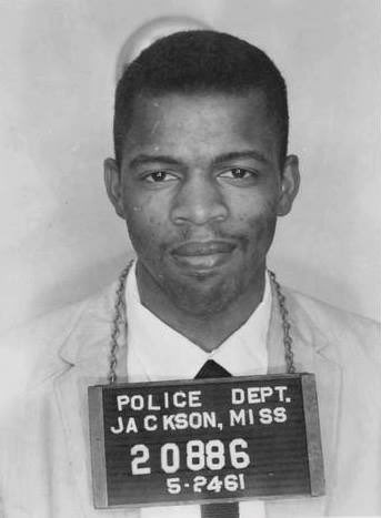 """.@repjohnlewis John Lewis said, """"Even though I was under arrest, I smiled because I believed we were on the right side of history. You too must find a way to get in the way. #goodtrouble"""" <br>http://pic.twitter.com/leIS58DOKn"""