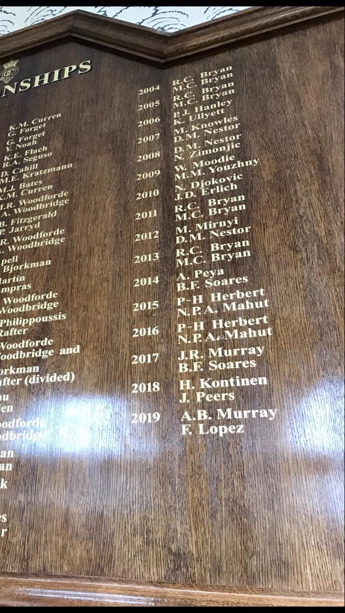 2019  A.B. Murray             F. Lopez   2019  F. Lopez   The Lopez Double has been etched into history.   #QueensTennis <br>http://pic.twitter.com/eOSVq6wpwm