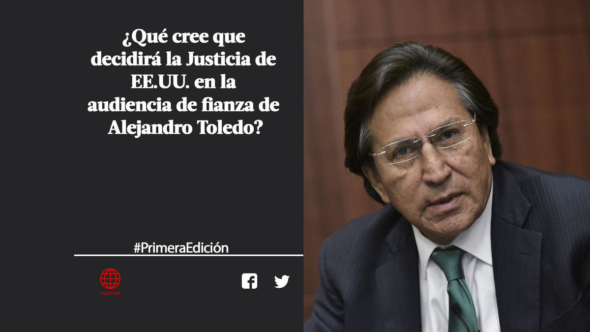 ¡Buenos días! Responde a nuestra pregunta de hoy con el hashtag #PrimeraEdición. El tema de hoy: la audiencia de fianza del expresidente Alejandro Toledo ► http://www.americatv.pe