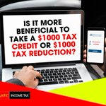 Is it more beneficial to take a $1000 tax credit or $1000 tax reduction?  🎥 Watch the video below to know more.