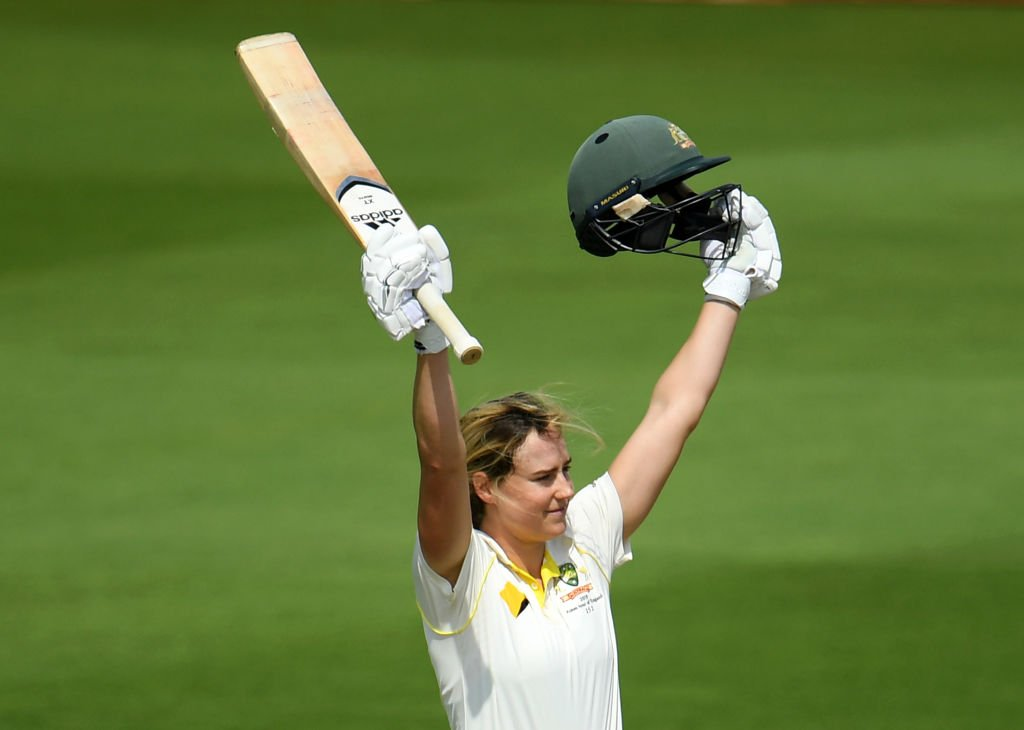 LUNCH. Australia are 341-5 at the lunch interval. Ellyse Perry completed her century in that morning session and Laura Marsh has picked up two wickets for England. Live: https://bbc.in/2LZI3Bq #bbccricket #WomensAshes