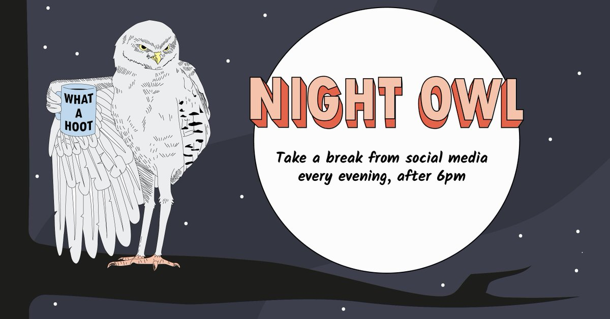 Scrolling through your evenings? Try the #ScrollFreeSeptember #NightOwl plan and take a break from #socialmedia evenings after 6pm and make the most of your down time @audibleuk @BeGambleAware @silentnightbeds http://www.scrollfreeseptember.org