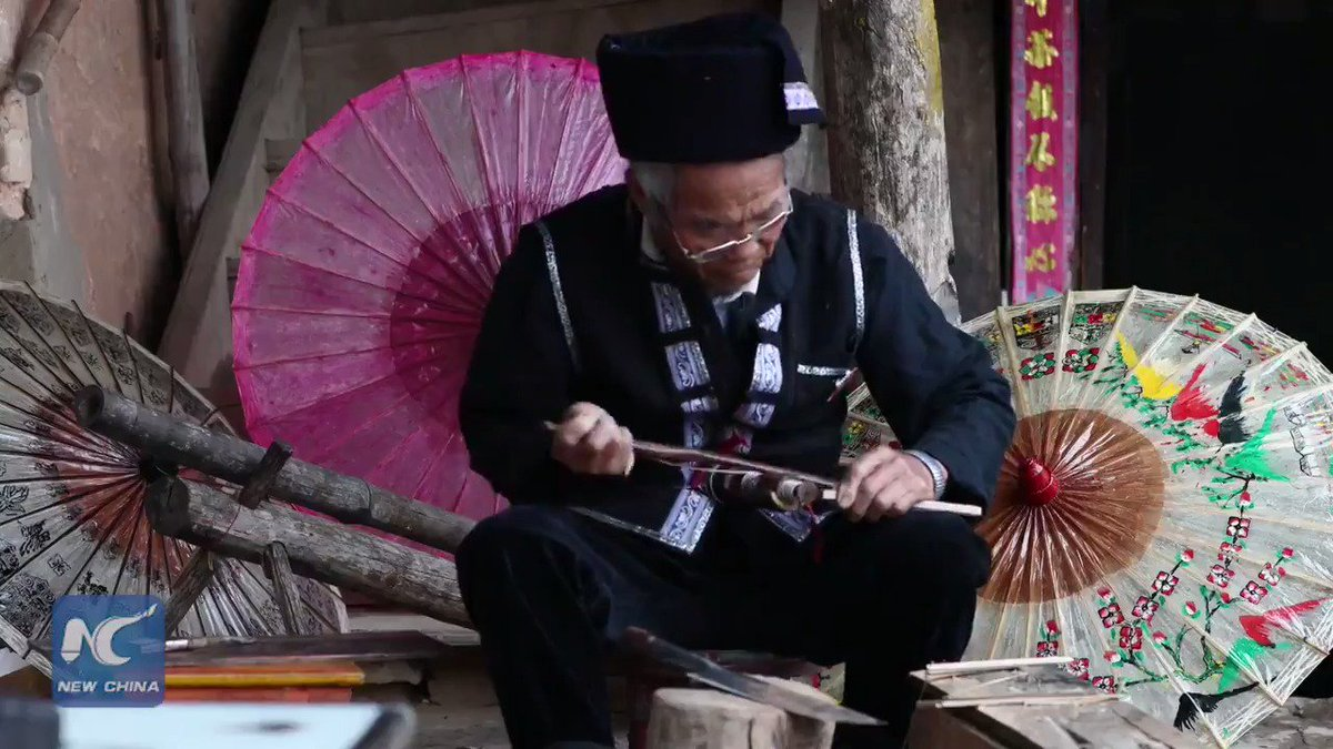 The last inheritors! Did you know there are only 2 people working to preserve the 400-year-old craft of Yunnan's traditional handmade water bamboo umbrellas? Find out how they are made...