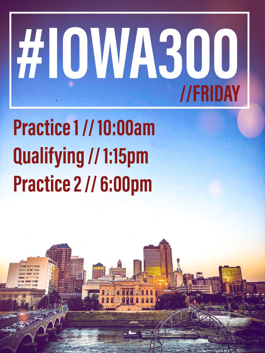 Who's in the mood for some night racing this weekend? #Iowa300 practice starts today at 10:00AM. 🌽 #INDYCAR