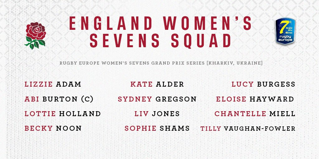 test Twitter Media - 🌹Your England Women Sevens squad for the #Kharkiv7s Grand Prix.  More: https://t.co/oFNzIhzvWb  🖥 Watch live, on @rugby_europe here:  https://t.co/6eV7T84G1e https://t.co/8xThXwfEvS