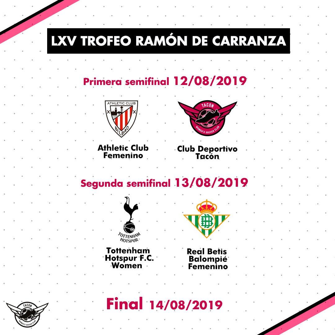 🏆 ¡Vamos a participar en el LXV Trofeo Carranza! 🆚 Nos enfrentaremos al Athletic Club en la semifinal. #GoTACON