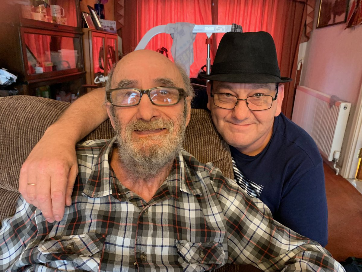 My dad with carer extraordinaire @bowles_clive. No he was never in The Specials.<br>http://pic.twitter.com/q3ApsP9sMf