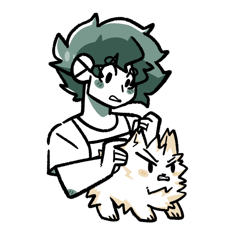 Pet groomer Midoriya because I just wanted to draw cute pets  #tododeku #katsudeku<br>http://pic.twitter.com/gilMgqONau