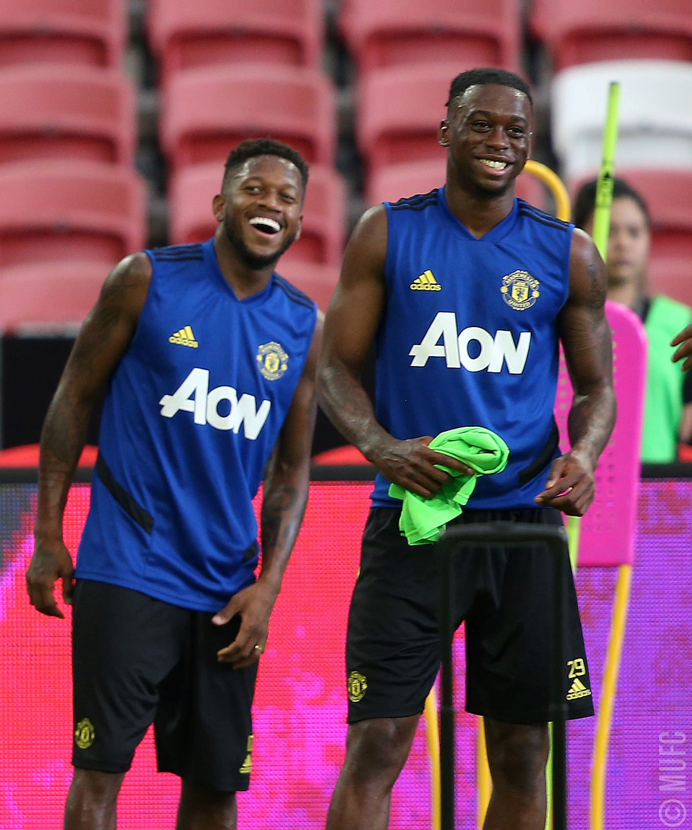 Fred and Aaron Wan Bissaka in training #MUFC <br>http://pic.twitter.com/mlSR2BGuCM