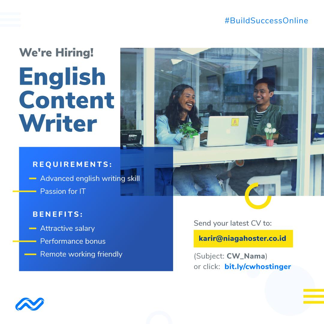 Niagahoster On Twitter Interested In Joining A Startup Company And Consider Yourself As An It Enthusiast Then We Are The Right Place For You Lowongankerja Lowker Jobvacancy Https T Co A73dgg57b0