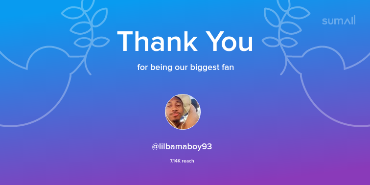 Our biggest fans this week: lilbamaboy93. Thank you! via sumall.com/thankyou?utm_s…