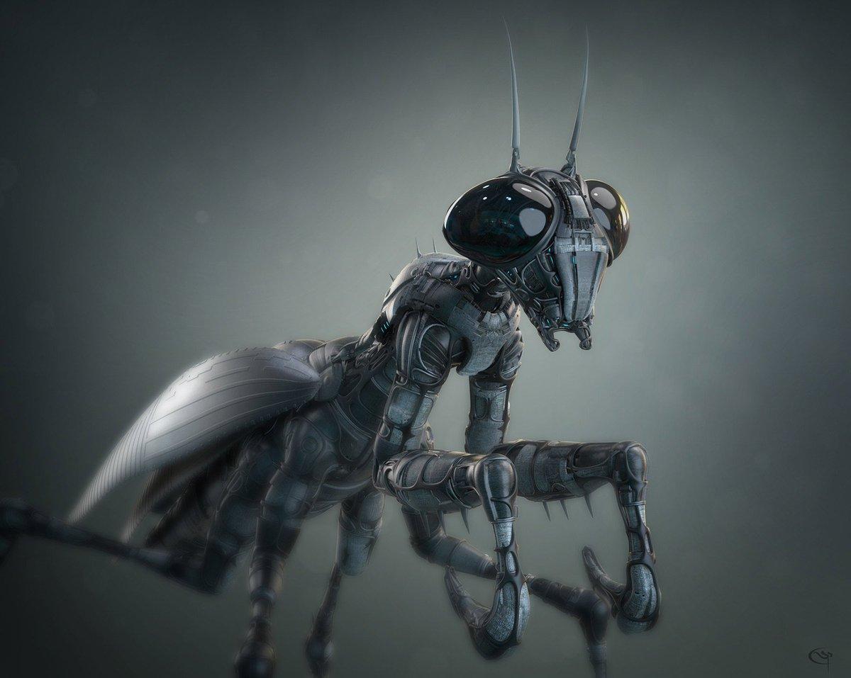Pascal Sguera #scifi #ant #Robotic #steampunk