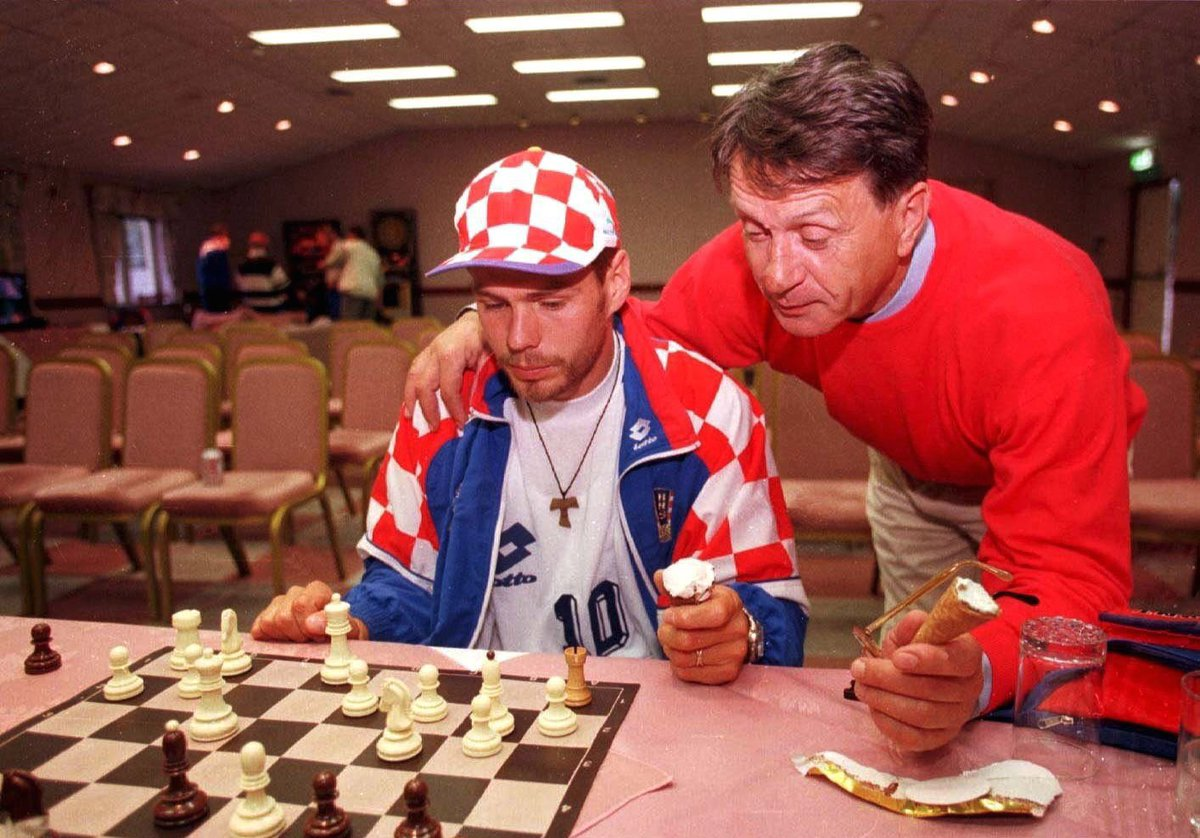 Happy #ChessDay everyone!  (Btw, where can we get that hat, Zvonimir? 🧢🇭🇷)