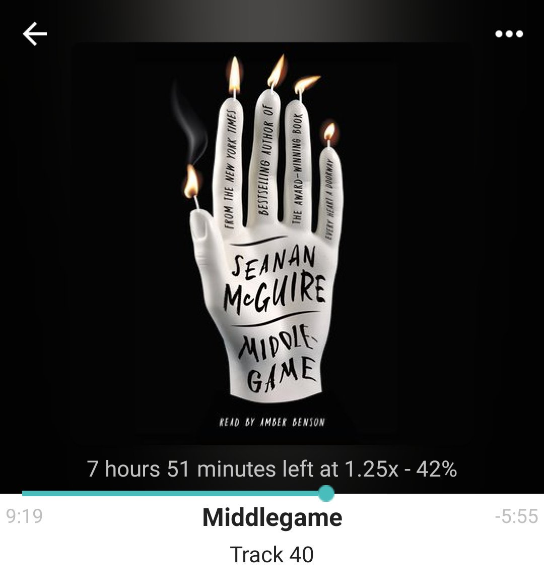 Completely sucked in to my #FridayReads : Middlegame by @seananmcguire #FridayListens