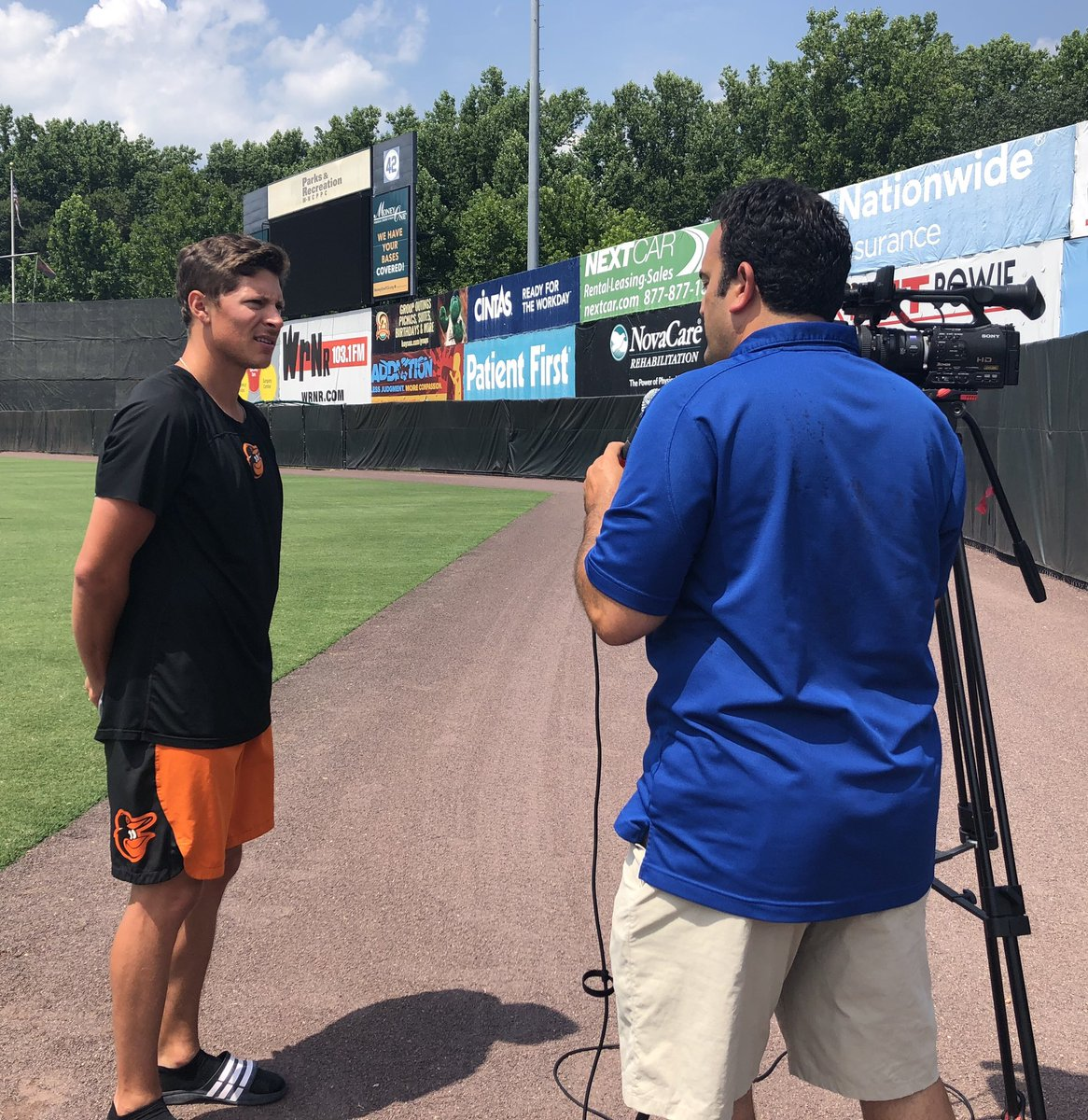 Last night the @BowieBaysox defeated the @AltoonaCurve 1-0 in a pitchers dual.  See the action and hear from the #Baysox players about the rest of the very hot weekend series with the #Curve tonight on @PGCTV sports. #Birdland @Orioles