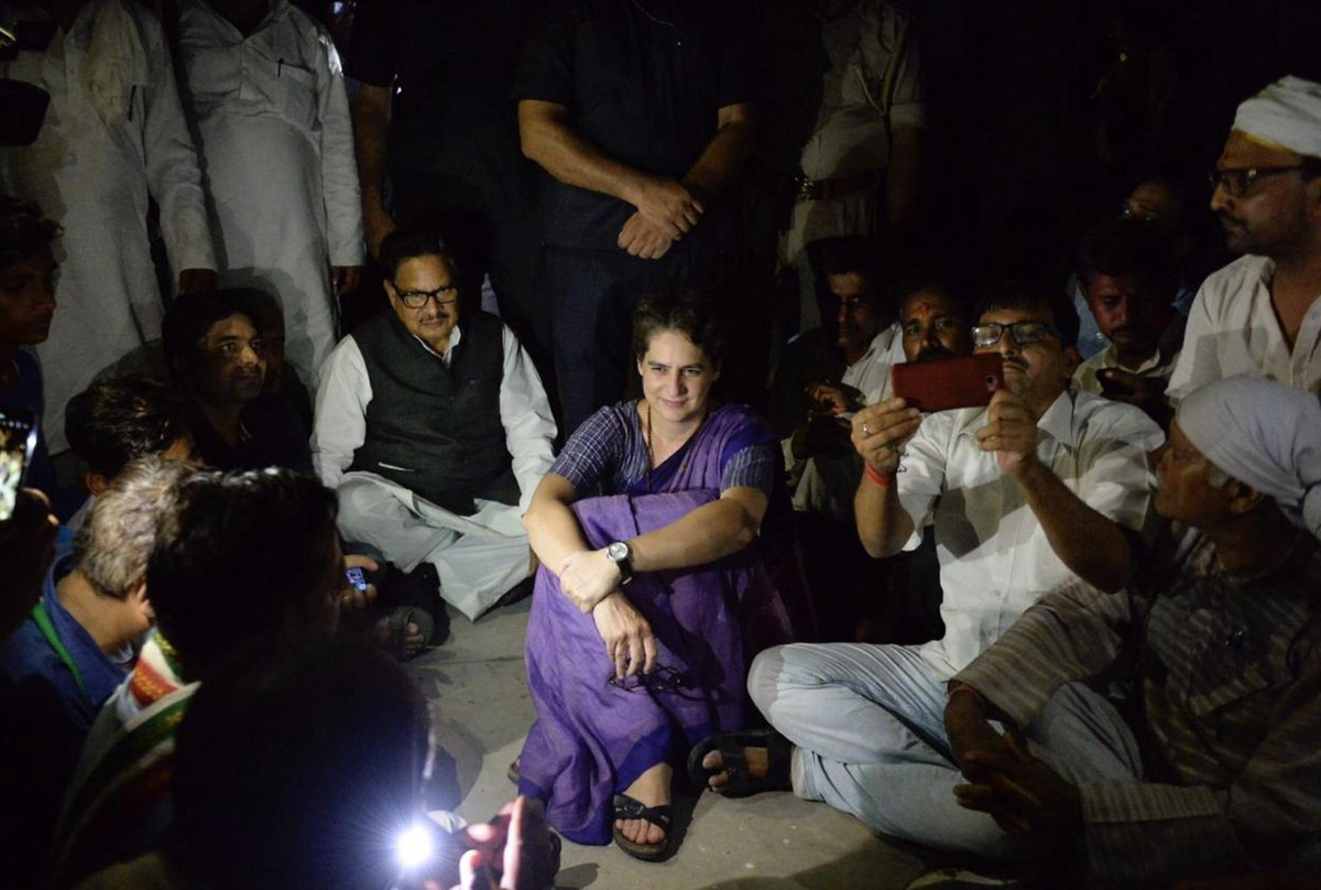 Is 1977-Belchi being repeated now in #Sonbhadra? Congress will not be able to revive in Delhi's TV studios, Congress has to take itself to the streets. #PriyankaGandhiInSonbhadra #PriyankaGandhiVadra #UPmeinJungleRaj