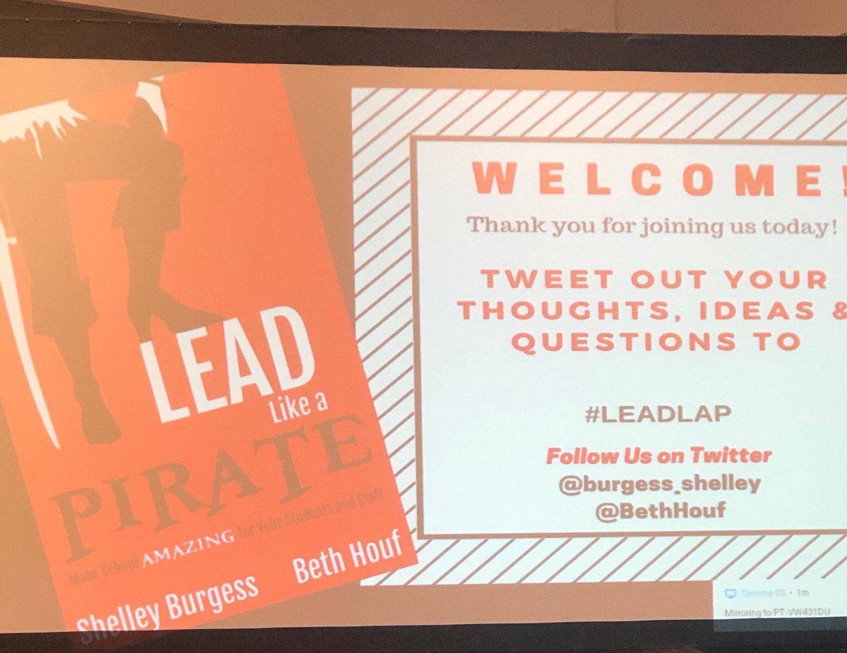 So excited to learn from ⁦@BethHouf⁩ and to lead like a Pirate! #LeadLAP #NPC19
