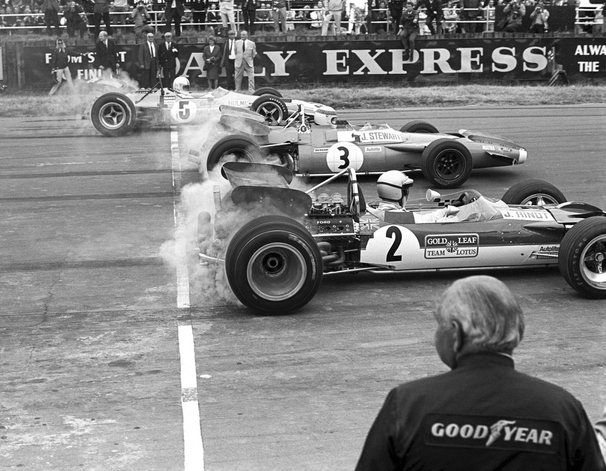 Jackie Stewart won his first British Grand Prix on this day 50 years ago!  It's a milestone victory at Silverstone that the Flying Scot will be celebrating when back behind the wheel of his victorious 1969 Matra MS80-02 at the #SilverstoneClassic in just a few days time...