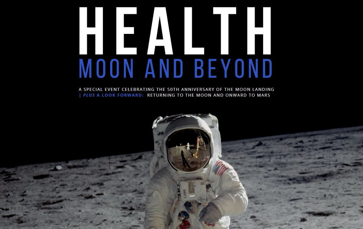 """Visiting The Health Museum in Houston tomorrow? Stop by and say hello – we'll be there, too! Watch """"The Day We Walked On The Moon"""" and enjoy space themed snacks before a panel discussion on space health topics, including former astronauts as panelists! thehealthmuseum.org/event/health-m…"""