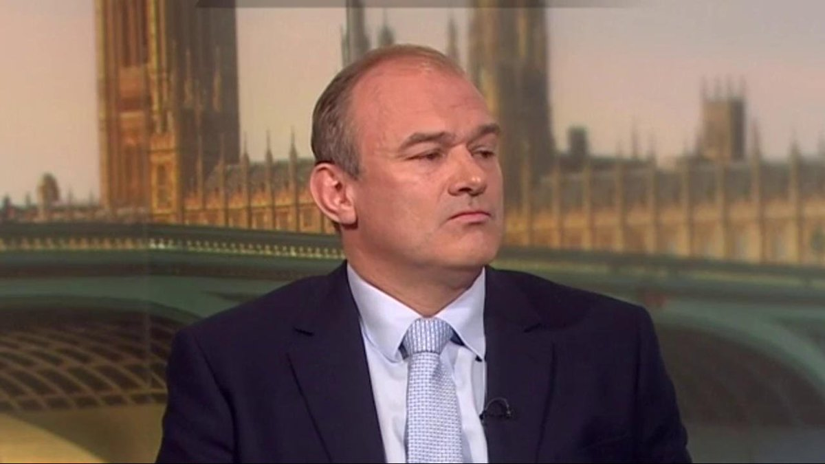 Lib Dem leadership candidate Ed Davey: No prospect of coalition with Corbyn or Johnson as they are both Brexiteers with one on the hard left, and one on the hard right #politicslive #BBCLibDemDebate bbc.in/2Y6Nukw