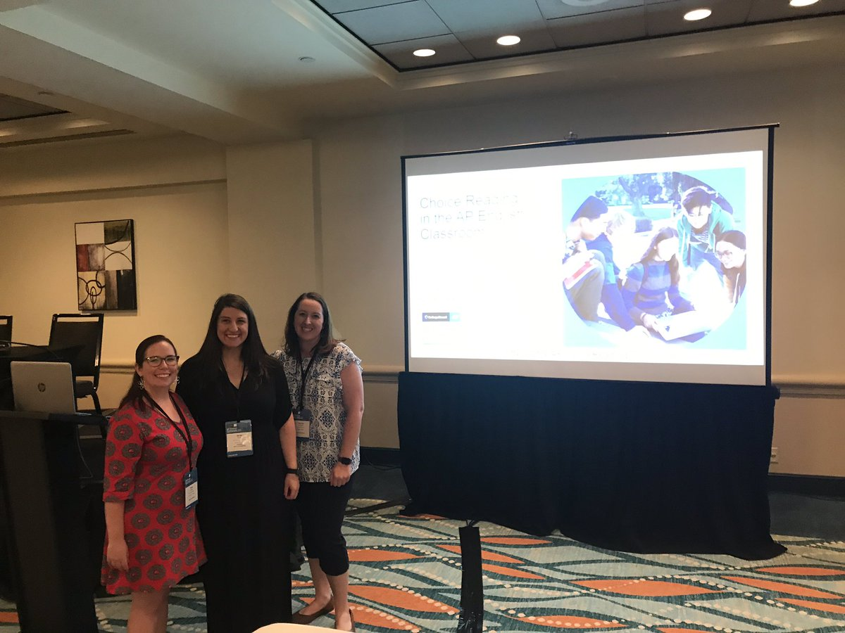 We just finished our presentation on choice reading in AP at #AP_Conf and we had a blast! #APLang <br>http://pic.twitter.com/mzPOcGmE7E