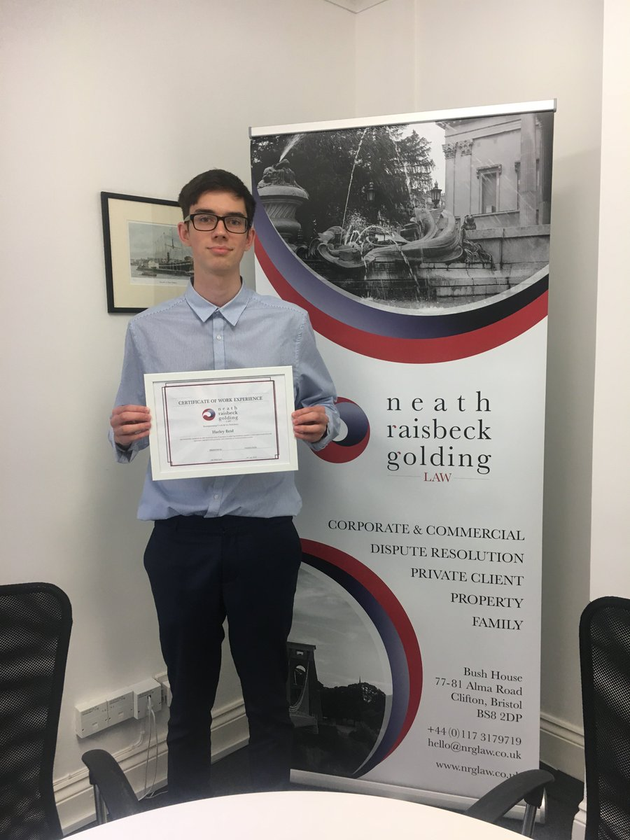 test Twitter Media - It has been a pleasure having Harley Reid-Sinclair from St. Mary Redcliffe Sixth Form here at Neath Raisbeck Golding Law completing his week of work experience.  #NRGLaw #NeathRaisbeckGoldingLaw #WorkExperience #BristolLawFirm #Law #Bristol #LegalServices https://t.co/WzA4xPKEN0