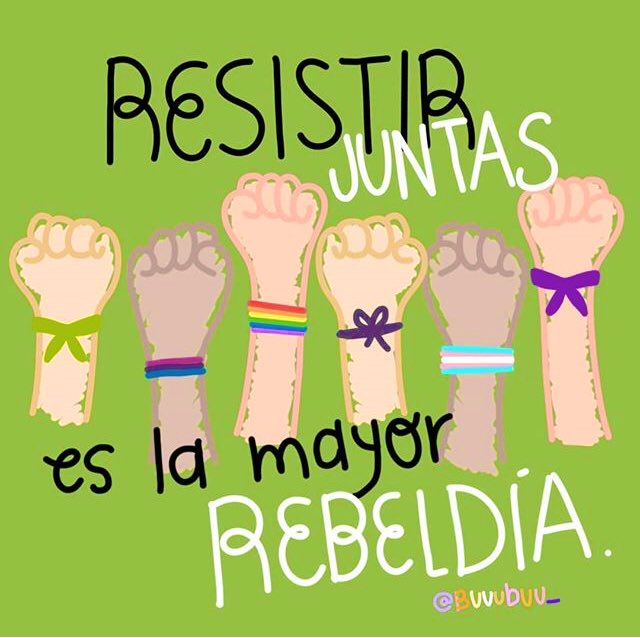 RT @FondoSemillas: #BuenosYFeministasDías  Somos unas rebeldes en colectiva. 🙊💚 Vía: Buuubuu_ #BuenViernes https://t.co/AOqz5zcjt2